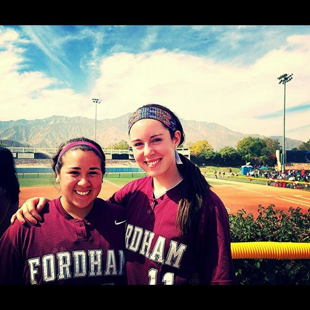 Paige and me in beautiful Palm Springs, California after a 3-2 loss to Oregon. Paige hit a monster homer in that game.