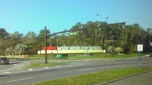 The entrance to the Wide World of Sports complex, the site of the Citrus Classic in Orlando, Florida.