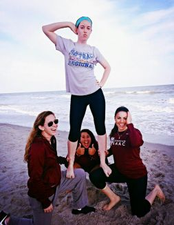 Striking a pose with my best friends and teammates in Myrtle Beach.