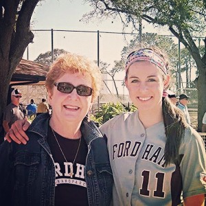 My Grandma and me in Tampa. She came to see me play during her month-long winter getaway to Florida.