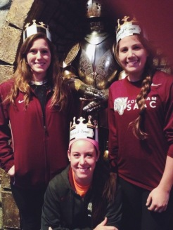 Michele, Tina, and me during team bonding at Medieval Times in Myrtle Beach.