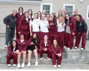 Team dinner at Elise's house before the URI series. (Courtesy of Tom Wasiczko)