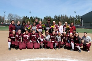 The team after the senior day ceremony.
