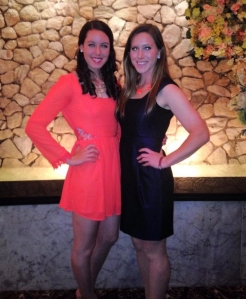 Me with Michele, our stud pitcher and one of my very best friends, at the Block F banquet. (Courtesy of Tom Wasiczko)