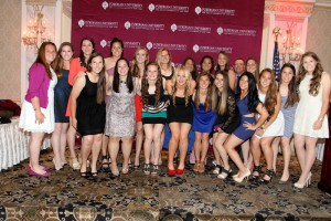 Team picture at the annual Block F student-athlete banquet before we left for the Dayton series.