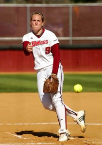 Sara Plourde starred for UMass in the pitching circle (Courtesy of J. Anthony Roberts).