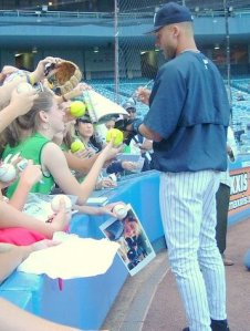 My second encounter with Jeter had me staring at him, completely starstruck (2006).