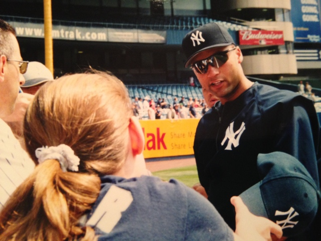 My first encounter with Derek Jeter (2001).