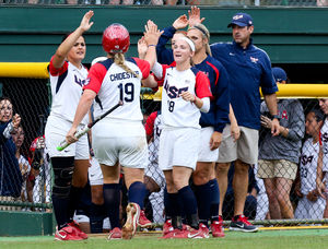 Amanda Chidester led the way for Team USA at the Canadian Open. (Courtesy of Team USA Softball)