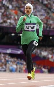 Saudi Arabia's Sarah Attar at the 2012 London Olympics (Courtesy of Buzzfeed).