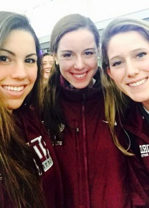 Serena, Michele, and me at the airport before the start of our last season together.