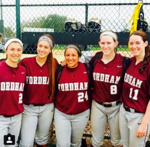 The seniors (minus Serena), after our big upset of #13/11 Minnesota at the Citrus Classic.