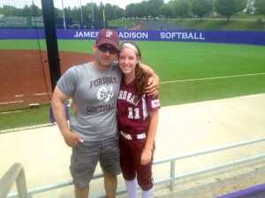 My dad and me take in one final moment together at the field following our loss to N.C. State.